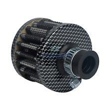 12MM AIR OIL CRANK CASE BREATHER FILTER MOTORCYCLE QUAD CAR CARBON CONE NEW