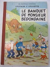 sylvain et  sylvette le banquet de monsieur bedondaine 1963 fleurus eo