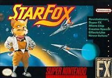 Star Fox (Super Nintendo, 1993). Tested, good/average condition, clean.