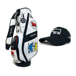 Keith Hering Golf KHCB-09 CADDIE BAG White 5way top  with golf cap gift