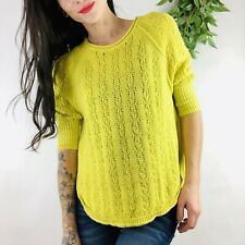 Anthropologie Sparrow Sweater Bright Yellow Loose Knit Pullover