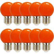 10 x LAMPADA LED GOCCE SFERA 2W=25W E27 LUCI Biergarten Arancione