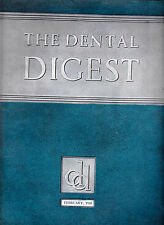 The Dental Digest Magazine February 1938 Alveoloar Abscess, Denture Design