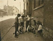 "1908 Craps, Gambling, antique, Young kids in Cincinnati, OHIO, 14""x10"" photo"