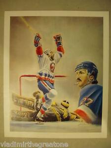 1982-83 PLAYOFFS JOHN TONELLI VINTAGE HOCKEY POSTER NY RANGERS ISLANDERS 18x22