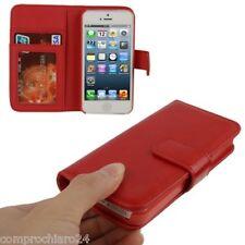 Custodia a Portafoglio Rossa per iPhone 5 - Carta di Credito - FLIP Cover Case