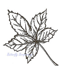 Sumac Leaf Wood Mounted Rubber Stamp Northwoods Rubber Stamp New