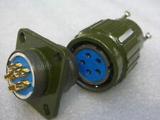 2,Military Gold 5-Pin Twist Male & Female Connector,F5P