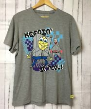 SpongeBob & Patrick Mens Grey Printed Keepin It Real Nikelodean T Shirt Size L