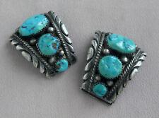 Robert & Bernice Leekya ZUNI Sterling Silver & Turquoise WATCH TIPS Ends;K901