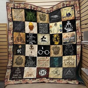 Harry Potter Hogwarts Blanket Sofa Throw Travel Rugs Winter Warm Xmas Gift