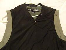 ☀OAKLEY O Full-Zip Polyester Lined Wind Vest GOLF Outerwear Brown ~ Men's SM-MED