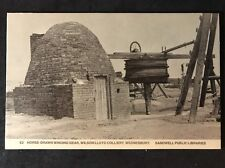 RP Vintage Postcard - Staffs. #B13 - Horse-Drawn Winding Gear, Colliery
