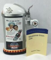 Anheuser Busch Collector's Club 2006 Membership Budweiser Today Beer Stein CB36