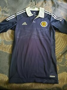 Rare Scotland 2012/2013 Techfit Player Issue Home Jersey Size L