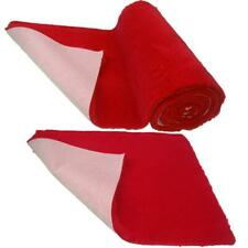 Red Plain NON-SLIP Vet Bedding Fleece for Whelping dogs, puppies and Senior dogs