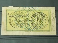 FRANCE COLONIES - LA REUNION - Postage Due TAXE - used - on fragment