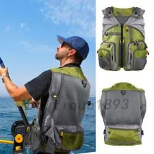 Outdoor Multi-pocket Fly Fishing Vest Backpack Chest Mesh Bag Adjustable UK Ship