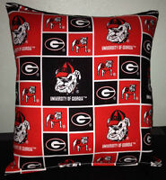 University Of Georgia Pillow Football Pillow G Pillow NCAA HANDMADE In USA