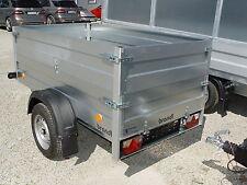 Pkw Anhänger Bordwandaufsatz 750kg Ladefläche 2,06x1,11m 13 Zoll Räder