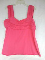Bugle Boy For Her Women's 2X Pink Sleeveless Top Blouse