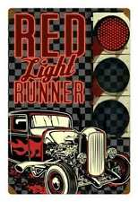Lethal Threat Red Light Runner Hot Rod Werkstatt Retro Sign Blechschild Schild