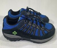 COLUMBIA Peakfreak Enduro low hiking shoes blue black CHILDRENS Size 10