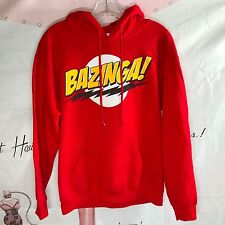 Adult Red Comedy TV Show The Big Bang Theory BAZINGA Hooded Sweatshirt Hoodie
