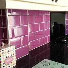 Wall tiles - purple brick effect wall tiles
