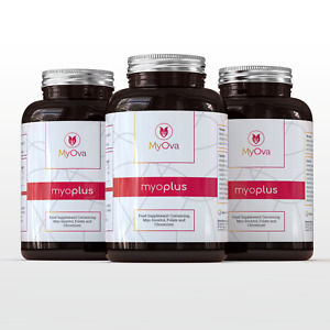 MyOva Supplement for PCOS 3 PACK with Myo-inositol, Folate & Chromium *SAVE 15%*