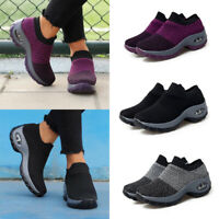 Women's Trainers Casual Sport Running Tennis Shoes Breathable Soft Flat Sneakers