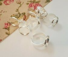 ADJUSTABLE CHOOSE AMOUNT r1 RING BLANKS,PAD RING BASE,SILVER COLOUR