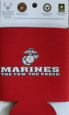 Marines Can Koozie Beer Soda Military Cooler Coolie Huggie U.S.The Few The Proud