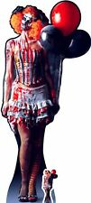 Scary Female Killer Clown Halloween Lifesize and Mini Cardboard Cutout / Standup