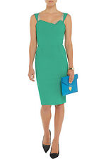 BNWT 'Meissa' Wool Crepe Dress by ROLAND MOURET in Green UK 14 / US 10