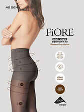Fiore Body Care Comfort Support Tights 40 Denier Pantyhose Lycra