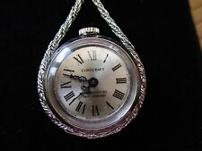 VINTAGE LADIES WATCH PENDANT BY COROCRAFT, MECHANICAL ON CHAIN