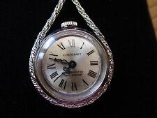 Vintage Señoras Reloj Colgante Corocraft, mecánica en cadena por