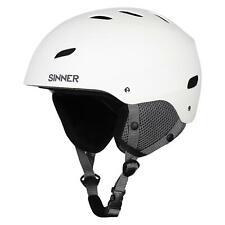 Sinner Bingham Ski Helmet Matte White Adult Unisex Medium (58)