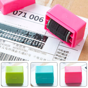 Roller Stamper Identity Protection Stamp Code Seal Privacy Guard Safe Office