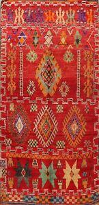 Antique Tribal Geometric Moroccan Oriental Area Rug Vegetable Dye Handmade 6x12