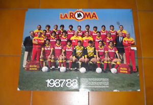 ROMA AS poster squadra ufficiale 1987/88