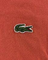 Lacoste Mens Short Sleeve Red Polo Shirt Size 5 / Medium