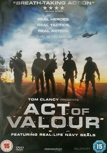 Act of Valour DVD War Action Movie 2012 - Tom Clancy Presents ft Real Navy Seals