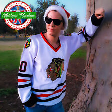 Christmas Vacation Jersey Clark Griswold Stitched CCM Hockey Chicago Blackhawks