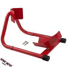 Cavalletto Alza Moto Anteriore Solleva Blocca Ruota Universale Rosso