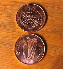 1996 EIRE 2 PENCE IRELAND SPECIMEN/FIRST STRIKE  FROSTED GEM RED KM22A BC9940A