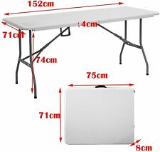 Adjustable Heavy Duty Folding Catering Camping Trestle Picnic BBQ Party Table