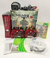 Gears of War Variant Xbox 360 Slim Video Game Console PAL TESTED BOXED COMPLETE