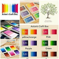 Multi Colours Set Ink Pad Inkpad for Paper Wood Fabric for Rubber Stamps wedding